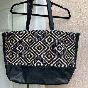 Steve Madden Beaded/Woven Large Tote